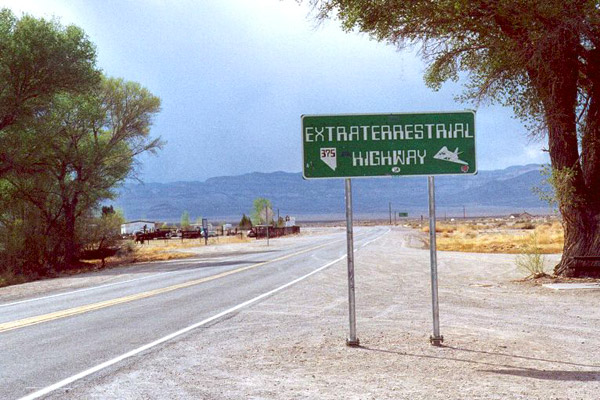 road sign to Extraterrestrial Highway
