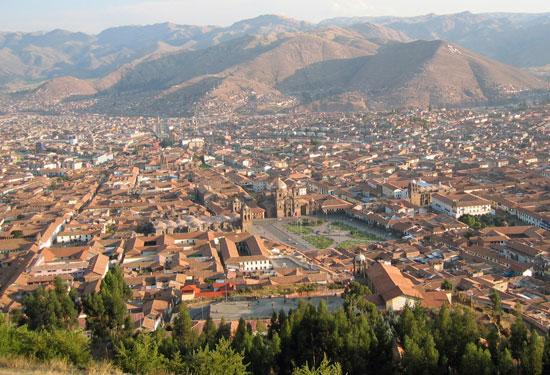 Cuzco from Sachsayhuaman