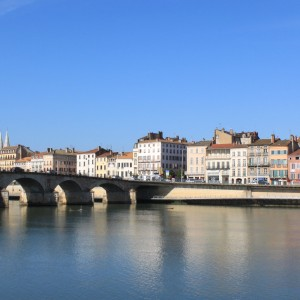 beautiful bridge over the Saone in macopn